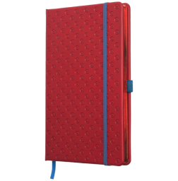 Anteckningsbok BLOMMA - röd/blå
